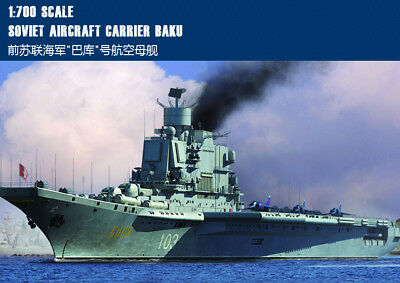 SOVIET AIRCRAFT CARRIER BAKU 1/700 ship Trumpeter model kit 83416