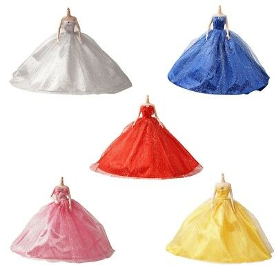 Handmade Wedding Dress Party Gown Clothes Outfits For Girl Doll Kids Gift