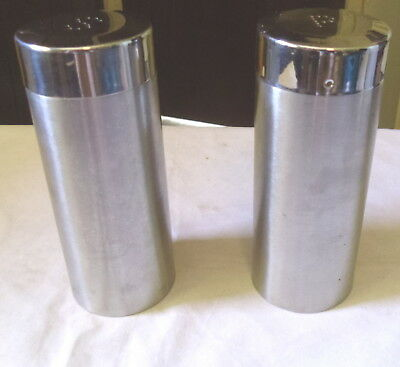 Salt And Pepper Shakers Modern Brushed Stainless Steel