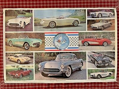 Chevrolet CORVETTES  1953 - 1962 Poster by Automobile Quarterly