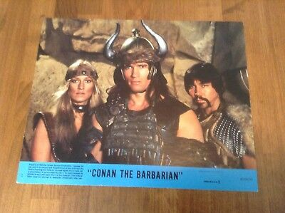 Conan The Barbarian 1982 Original Movie Lobby Card Arnold Schwarzenegger