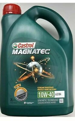 2 Litres 2L Castrol Magnatec 10W40 Part Synthetic Car Engine Oil Diesel Petrol