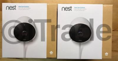 **Lot Of 2** Nest NC2100ES Wireless Outdoor Security Cam w/ Night Vision NEW FSH
