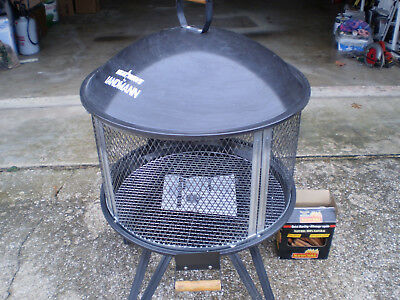 Landmann Usa 28 Inch Outdoor Wood Burning Fireplace With Cooking