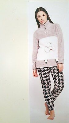 hot sale online d742b 4d297 DAMEN FLEECEANZUG Hausanzug Pyjama Gr. S,M NEU in OVP Fleece ...