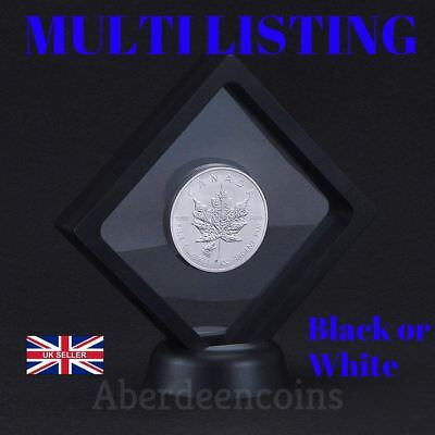 3D Square Floating Frame Clear Coin Ring Jewellery Holder Kew Gardens/EEC 50p £2