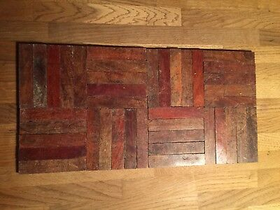 40 Pieces Reclaimed Parquet Teak Antique Flooring Reclaimed From A Church Hall.