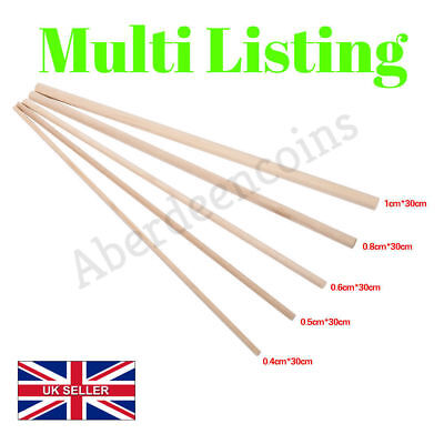30cm Round Natural Wooden Dowels Rods Arts + Craft Sticks Building Model Cake 00