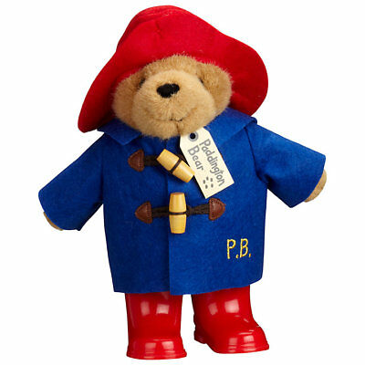 "Paddington Bear Plush Soft Teddy Toy With Boots 10"" Licensed Rainbow Designs New"