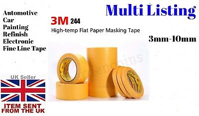 3M 244 High-Temp Fine Line Flat Paper Masking Tape For Automotive Car Painting