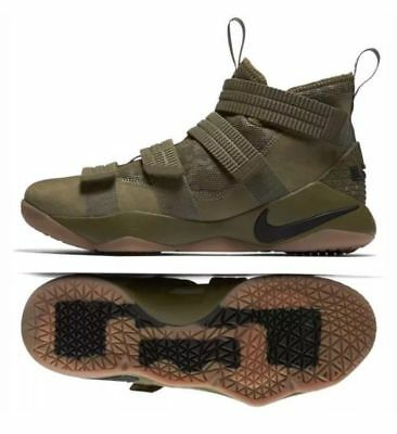 buy online b6d20 78b2c Nike Lebron Soldier XI SFG Basketball Shoes OLIVE CAMO 897646 200 DOUBLE  BOXED