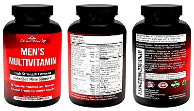 MENS MULTIVITAMIN DIVINE BOUNTY Enhanced MALE Support 23 VITAMINS AND 5 HERBAL