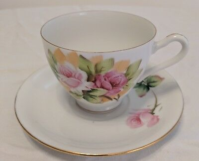 Antique Lefton China Pristine Hand Painted Tea Cup & Saucer Authentic 1950-1955!
