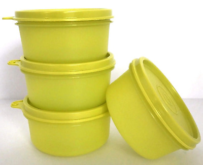 Tupperware 8 oz Serving Cups / snack Bowls ~To Go - Margarita Green Brand New