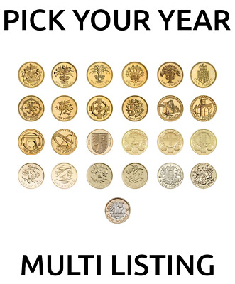 1971-2018 Royal Mint Proof + BU Royal Arms /Shield /Commemorative One £1 Coin