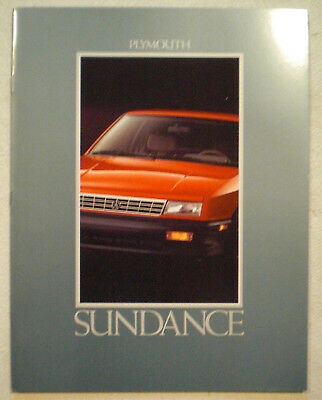 1992 Plymouth Sundance sales literature
