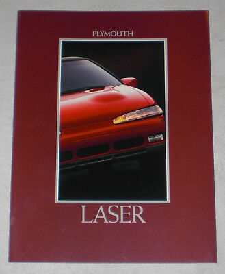 1992 Plymouth Laser sales literature