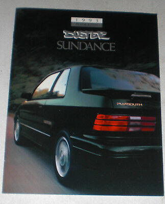 1993 Plymouth Duster Sundance sales literature