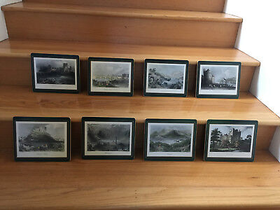 8 Vintage Lady Clare Placemats Irish Views Original Box - All In Excellent Cond.