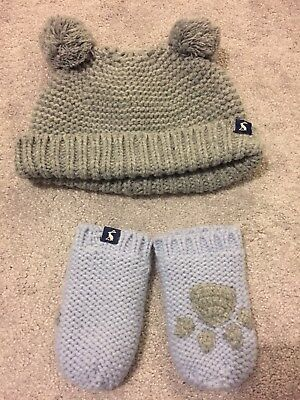 Joules Knitted Hat And Mittens 6-12 Months