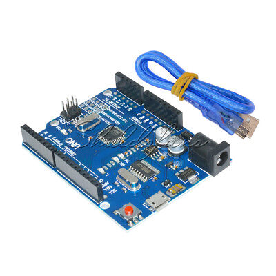 Latest Version Arduino UNO R3 ATMEGA328P-16AU CH340G Board Micro USB Cable