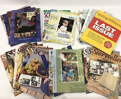 Lot of 28 Scrapbooking Crafters Inspiration Magazines And Catalogs
