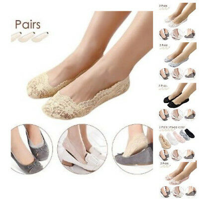 Pretty Grey Womens Casual Summer Lace Socks Invisible No Show Sale