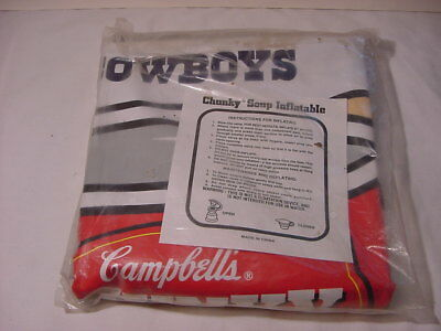 Campbell's Chunky Soup ~Dallas Cowboys ~ Promo Advertising Inflatable  New
