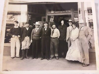 Vintage 1935 Photo AND Negative Employees in Costume Automotive Parts Co. Fresno