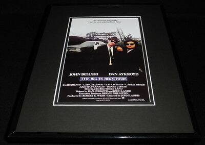 The Blues Brothers Framed 11x14 Poster Display John Belushi Dan Aykroyd