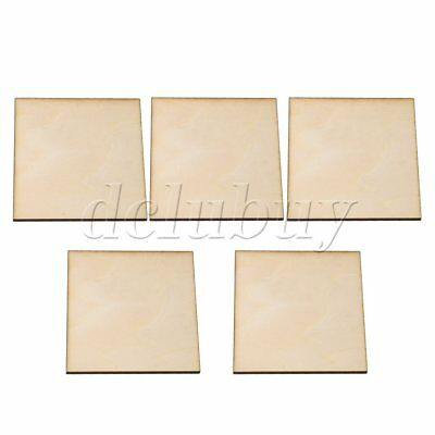 5Pieces 100mm Square Basswood Sheets for DIY Crafts Airplane Carving