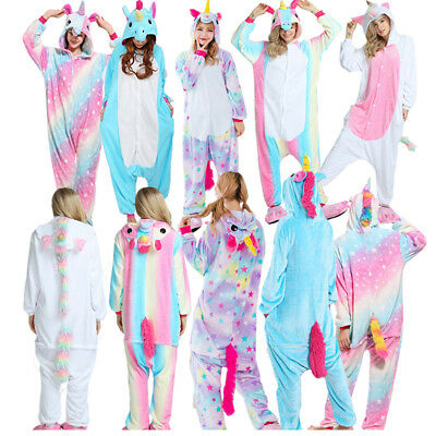 Adult women men Unicorn Sleepwear Kigurumi Pajamas Animal Unisex Costume Cosplay