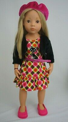 """Gotz jointed 19"""" doll happy kidz Emily brown eyes and blond hair"""
