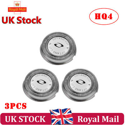 3 Shaver Heads Replacement for Philips HQ3 HQ4 HQ55 HQ56 Razor Blades with brush