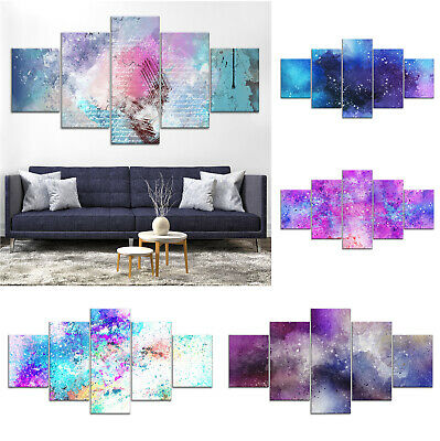 Modern Abstract Canvas Print Painting Framed Home Decor Wall Art oo Poster 5Pcs