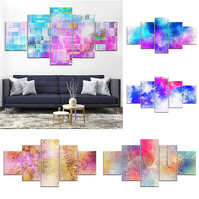 Modern Abstract Canvas Print Painting Framed Home Decor Wall Art nn Poster 5Pcs