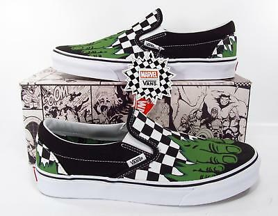 7a673bb5e328 VANS X MARVEL Avengers Incredible Hulk Checkerboard Classic Slip On  Sneakers -  59.46