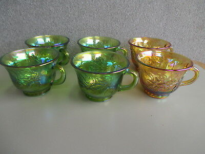 6 x  Spare Punch Set CUPS Only 4 x Iridescent Green &  2 x Iridescent Marigold