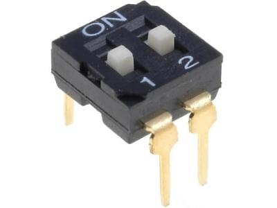 DI-02 Switch DIP-SWITCH Poles number2 ON-OFF 0.05A/12VDC -20÷70°C