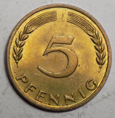 Germany 1950J 5 Pfennig Coin