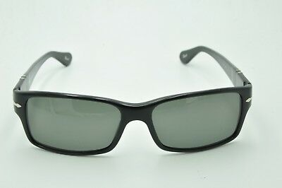 041728125a6 Persol 2803-S Sunglasses 95 58 Black Frames   Green Polarized Lenses