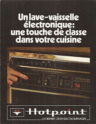 1983 Hotpoint Dishwasher Original 6-Pages Ad