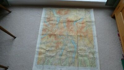 Vintage Map - Cumberland (Cumbria) - (Cloth)  Not Sure Of Date