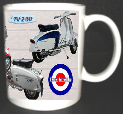 Lambretta Tv 200 Special Gt 200 Scooter Coffee Mug.mods With Specs On Reverse