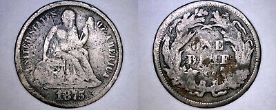 1875-CC Seated Liberty Silver Dime