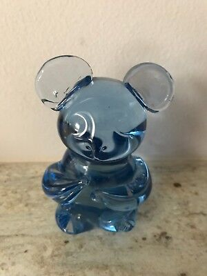 Us Commemorative Gallery Blue Glass Figurine Koala Bear Gift Collectible Art