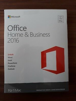 MAC Microsoft Office Home and Business H&B 2016 / Vollversion / PKC /  *NEU*
