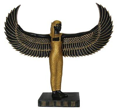 """10"""" Egyptian Winged Isis Sculpture Ancient Egypt God Statue Winged Pagan Goddess"""
