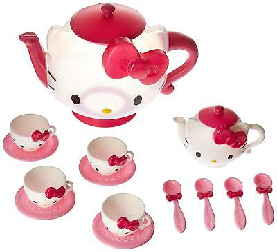 Sanrio Hello Kitty Tea Set Preschool Pretend Role Play Toy Game Pink, 16 pcs