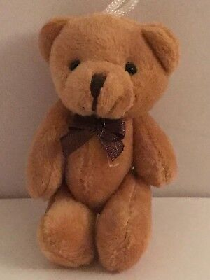 Small Cuddly Brown Jointed Teddy Bear Gift Present